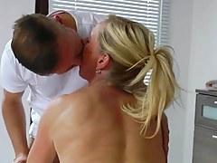 Hot Euro Cougar Rub-down and Fuck