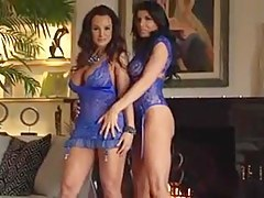 One dude bonking duo lusty MILF bitches