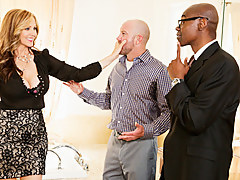 Julia Ann, Sean Michaels, Courage Powers in Mom's Cuckold #15,  Scene #01