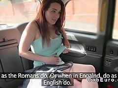Dutch amateur fulgorous in British fake taxi