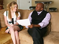Inamorato teen Sindee Shay gets along with a black