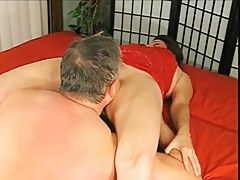Grandpa gives Grandma a Creampie and licks her to Orgasm