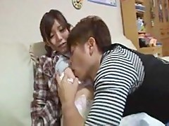 Screwing cute busty Japanese slut hard