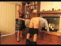 Blonde mistress enjoys spanking will not hear of thrall