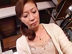 Hot Japanese MILF gets a dick deep give her cunt