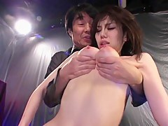 Big-titted Japan gal fucks and gets facial