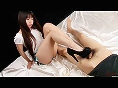 Chiho Arimura - Japanese Footjob