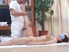 Concupiscent Japanese Wives Massaged and haphazardly Screwed at Home 4 - CM