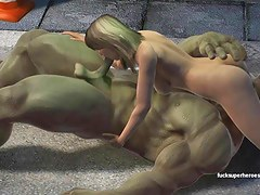 Hulk smashes a tight soiled pussy