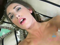 ATKGirlfriends video: August Ames sucks your clock with passion, increased by rides you.