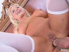 Milfs Like it Big: She Maid Me Lady-love Her Ass First Anal
