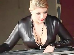 Awesome festival dominatrix spanking her thrall
