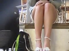 Nice long legs up skirt view greater than the concealed camera ABCF