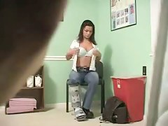 Amazing scrawny brunette babe filmed on hidden camera