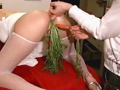Spanking sex video with pussy drilled hard in the balance climax