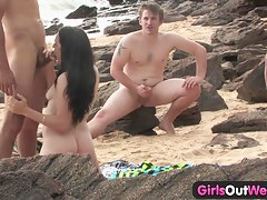 Cutie gender a alien on tap the beach