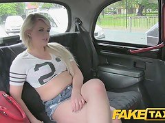FakeTaxi: Dong stimulated juvenile blond in taxi anal