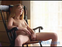 Long haired kirmess masturbates until her pussy gets wet