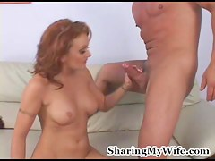 Slutty wife fucks a dude in front be incumbent on her husband