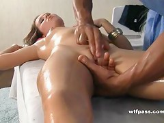 Oiled body massage and shafting