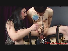 CBTandBallBusting Video: Strapped Down and Cold