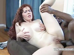 Take charge housewife Mae Victoria takes some black dick