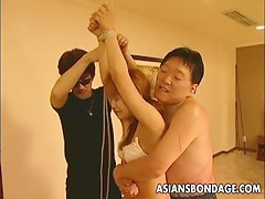 Hot Asian thraldom masturbation scene