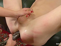 Foot junkie gets chubby punishment