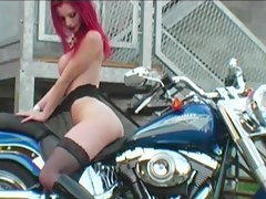 Doll makes love less the bike