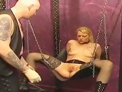 Of age peaches enjoys some hard caning and electrocution