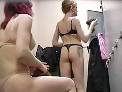 Bungler dressing room girls nude tits and asses give thongs