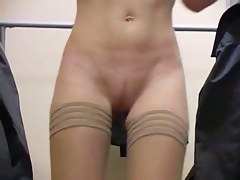 Hot changing room girl in resourceless but tan stockings