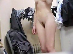 Seducing gal with trimmed cunt hot dressing room porn