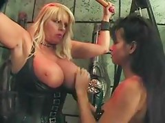 Large Boobs lesbos Dominatrix-Bitch and Serf