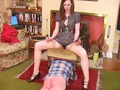 Inner brunette punishes her slave
