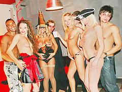 Hot horny college sluts celebrate Halloween
