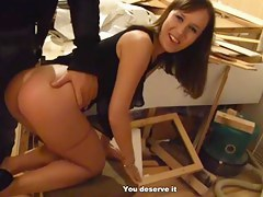 Youthful student fuck hard in the basement for 150 bucks