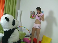 teddy dwell cutie with pigtails drilled
