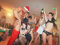 Dirty Christmas fuck with filthy university chicks