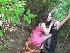 Banging youthful russian girlfriend outdoors