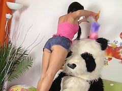 Excellent chick has sex with incriminate Panda