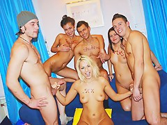 Hot college fucking with X-rated cock-hungry sluts