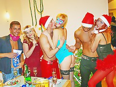 Hot student sex at a Christmas college party