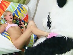 Nasty hotty plays with unstinted porn toys