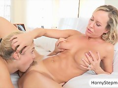 Lia Lor and Brandi Love fucked on turns