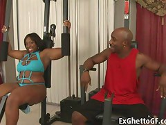 ExGhettoGf: Obese black lady banged in slay rub elbows with gym