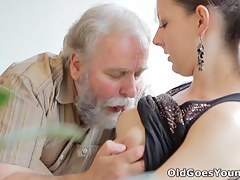 Ilona and her man are sharing a good time when he invites his older collaborate over