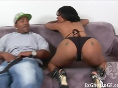 ExGhettoGf: Monster cock destroys ghetto slut