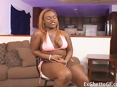 ExGhettoGf: Fat black floosie fucked by a toughie
