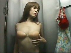 Hot asian chick tight dense dressing room video